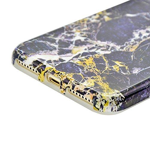 iPhone 7 Funda Mármol Carcasa Sunroyal® TPU Gel Silicona Cascara Flexible Suave Bumper Case Cover Cubierta de Protección Anti-Arañazos Choque Resistente Caja del Teléfono para iPhone 7 4.7 - Mármol P A-22