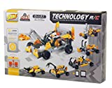 Bo Toys R/C 10 in 1 Race Cars Building Bricks Radio Control Toy, 198 Pcs DIY Kit with USB Rechargeable Battery, Construction Build It Yourself Toys