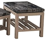 Simmons Upholstery & Casegoods 7026-47 End Table-Onyx Marble/Drftwood