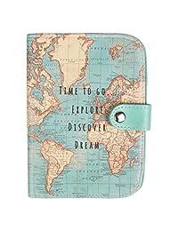 Sass & Belle Vintage World Map Passport Holder