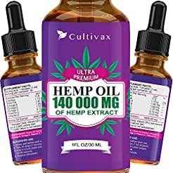 Hemp Oil 7500mg for Pain Relief, Relaxat...