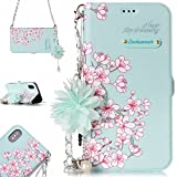 Spritech Galaxy Note 8 Wallet Women Case, Cover Luxurious 3D Flower Leather Wallet Handgag Purse Magnetic Closure Flip Chain Carring Case Design Samsung Galaxy Note 8