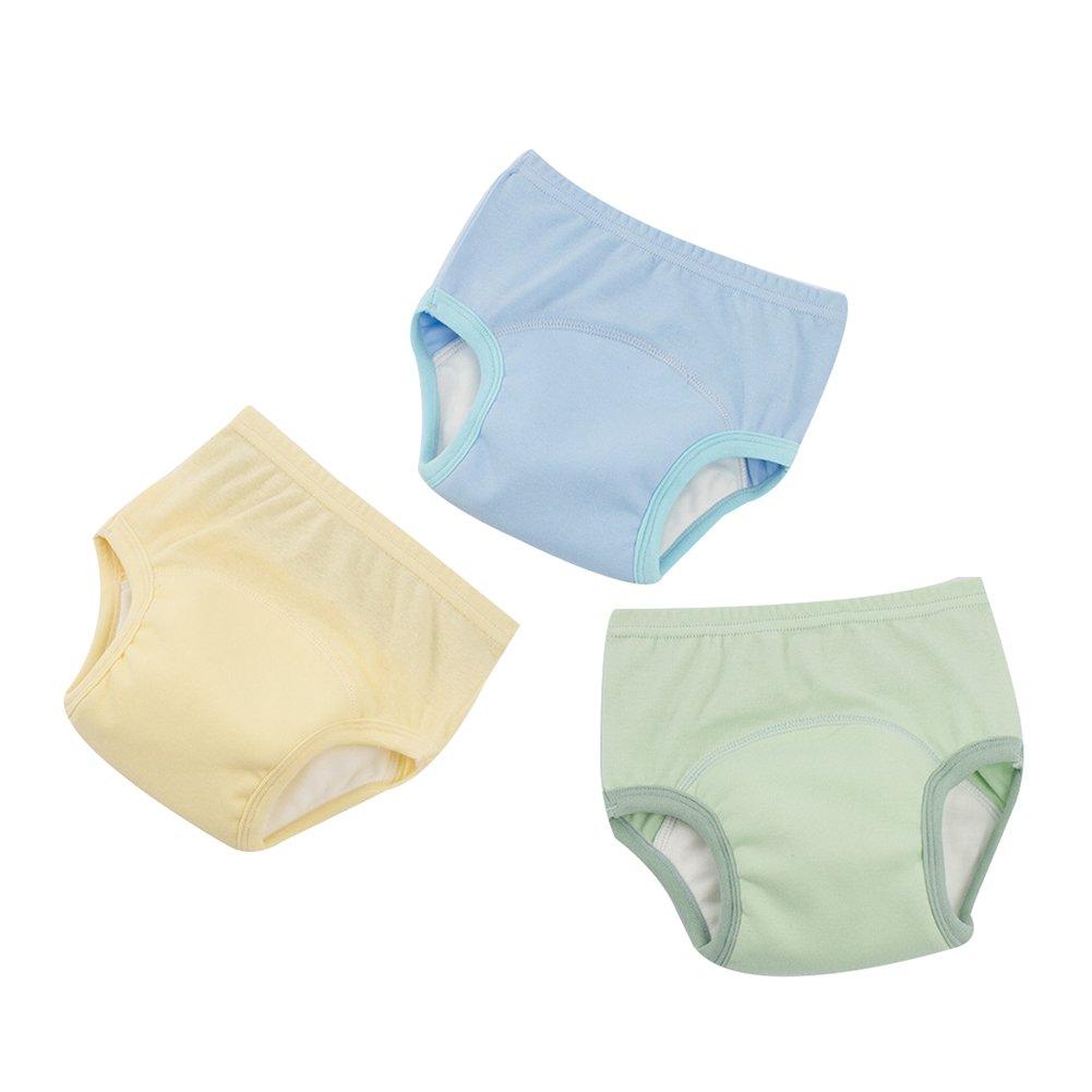 3 PCS Baby Toddler Breathable Cotton Training Pants Waterproof Cartoon Kinder Potty Underwear