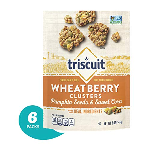 (Triscuit Wheatberry Clusters Pumpkin Seeds & Sweet Corn (Pack of 6) Non-GMO)