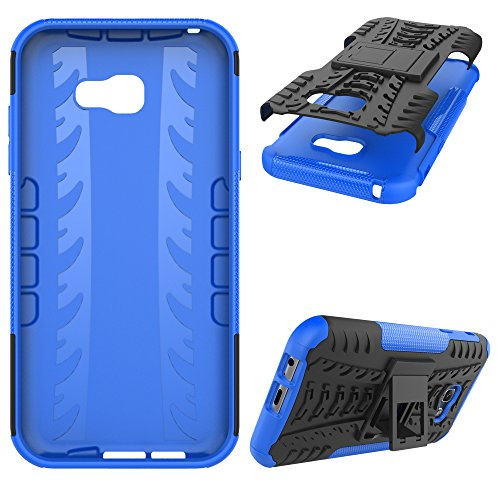 """Galaxy A7 (2017) Case, SsHhUu Tough Heavy Duty Shock Proof Defender Cover Dual Layer Armor Combo Protective Case Cover for Samsung Galaxy A7 (2017) (5.7"""") Blue"""