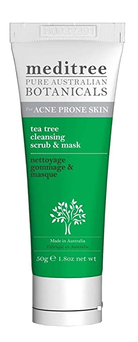 Tea Tree Facial Scrub & Mask MediTree Botanicals 1.8 oz (50g) Tube Cocokind Organic Lip Balm (Set of Four Flavors) (20x0.15 OZ  )
