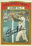Autograph Warehouse 70921 Steve Blass Autographed Baseball Card Pittsburgh Pirates 1972 Topps No. 229 1971 World Series Highlights
