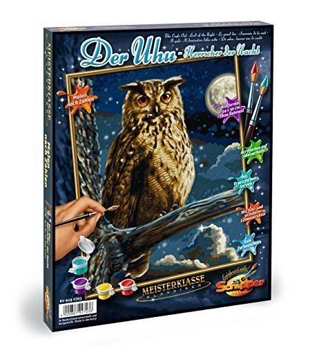 Schipper Eagle Owl Paint-by-Number Kit by Noris Spiele