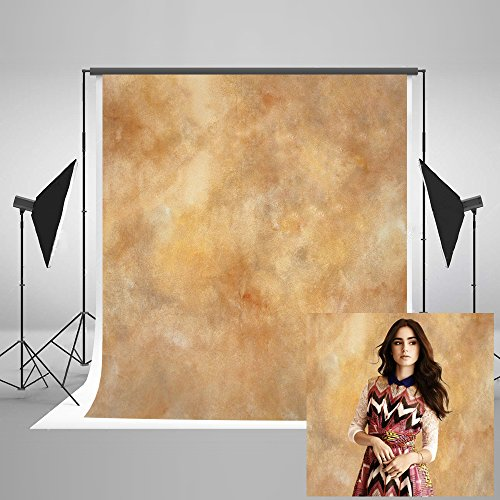 Kate 5ft(W) x7ft(H) Texture Photography Backdrops for Photographers Reused Yellow Abstract Photo Backdrop