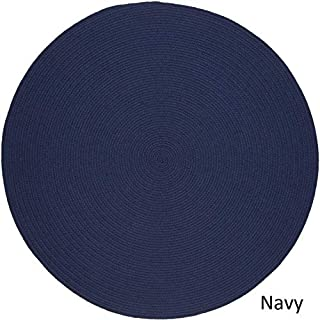 product image for Rhody Rug Woolux Wool Braided Rug - 6' Round Navy