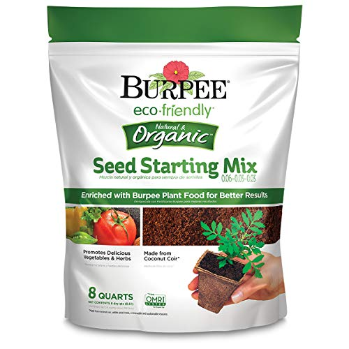 Burpee Eco Friendly 8 Qt Seed Starting Mix 0.06-0.03-0.03, Organic ()