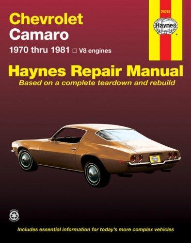 Chevrolet Camaro V8: 1970 thru 1981 (Haynes Repair Manuals) by Scott Mauck - Haynes Mall
