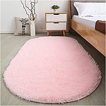 Amazon.com: SANMU Soft Velvet Silk Rugs Simple Style Modern oval ...