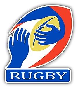 Rugby Ball Hands Auto-Dekor-Vinylaufkleber 10 X 12 cm