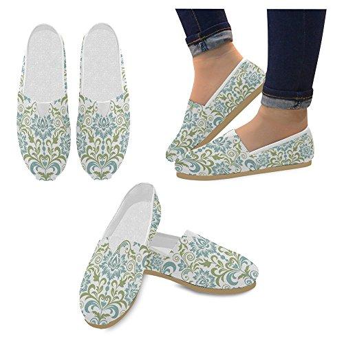 Interestprint Femmes Mocassins Classique Toile Casual Glisser Sur La Mode Chaussures Sneakers Appartements Multi 10