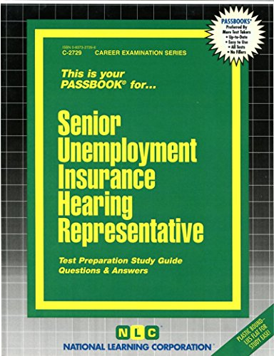 Download Senior Unemployment Insurance Hearing Representative(Passbooks) Pdf