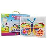 Mushroom Nails Intelligence Pegboard Jigsaw Puzzle Games Toys Set for Toddlers Kids Boys Girls, 318pcs