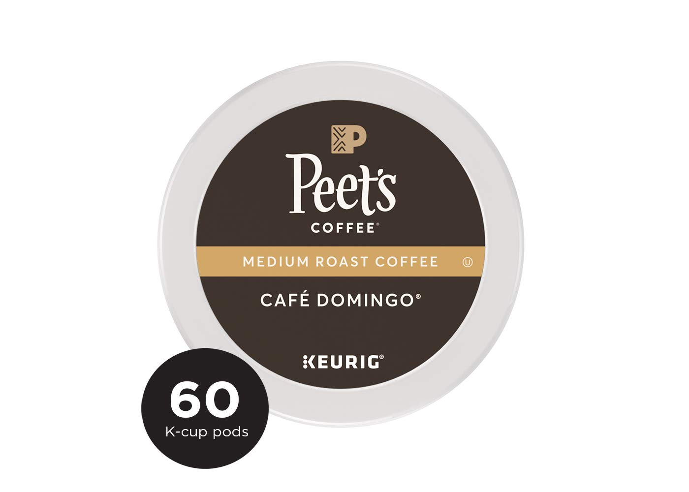 Peet's Coffee Café Domingo, Medium Roast, 60 Count Single Serve K-Cup Coffee Pods for Keurig Coffee Maker by Peet's Coffee