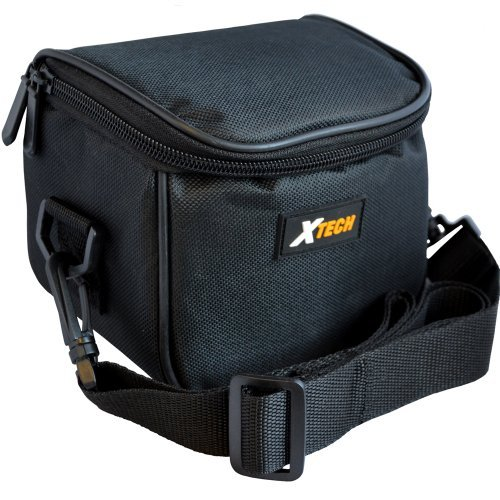 Xtech Well Padded Digital Camera Carrying Case with Front Pocket & Neck Strap for Nikon Coolpix A, P80, P90, P7100, P7700, P7800, L100, L110, L120, L620, L810, L820 L830 & L840 Digital Cameras (Nikon 830 Camera Case)