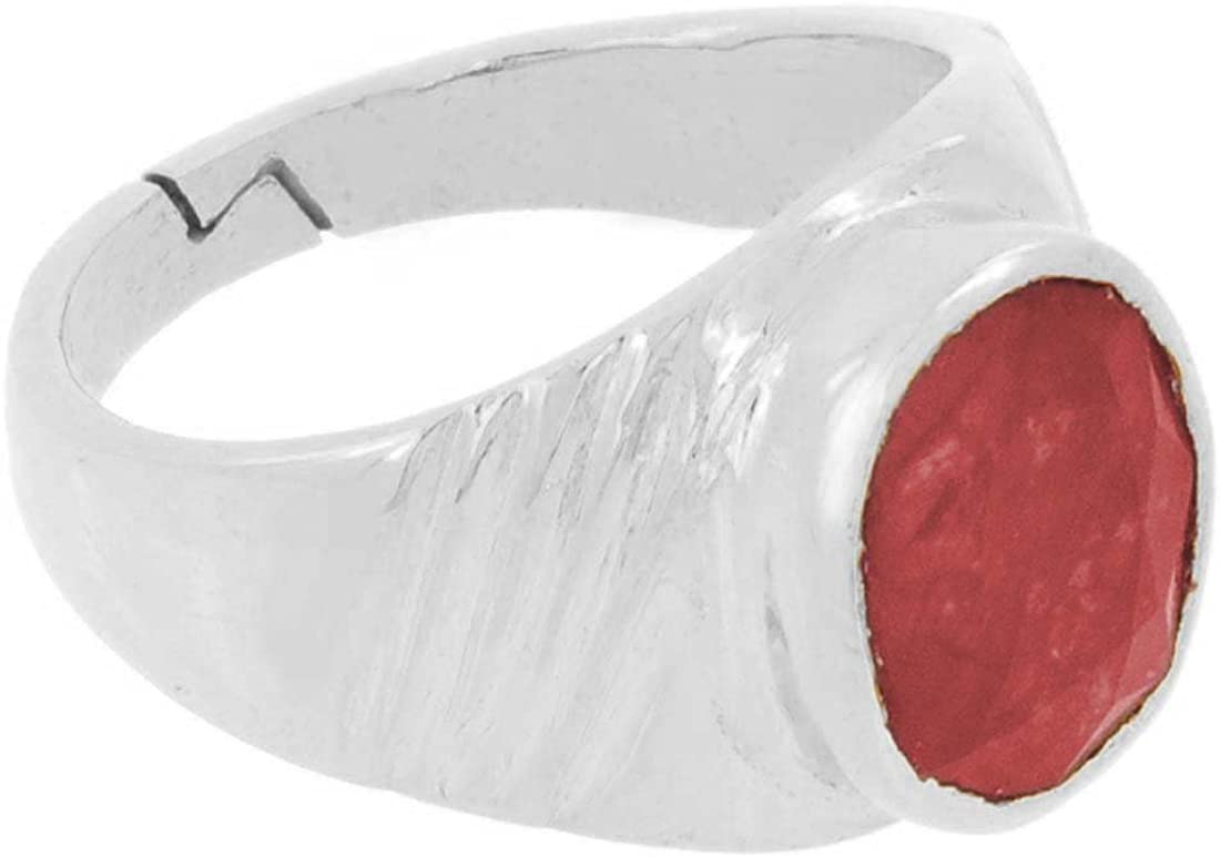 skyjewels 10.25 Ratti Ruby Astrological Ring in Silver