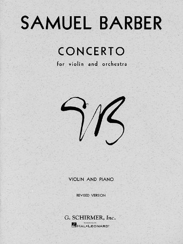 Concerto: Violin and Piano [Paperback] [1986] (Author) Samuel Barber