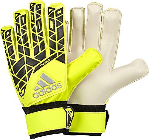 adidas Kinder Torwart/Trainings-Handschuhe Ace Torwarthandschuhe, Solar Yellow/Black/Onix, 5.5