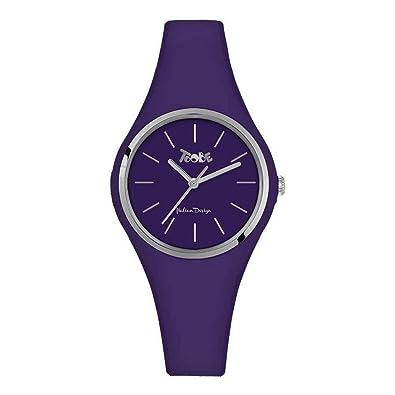 Reloj Toobe Mujer de silicona antialérgica Indigo y abrazadera Silver: Amazon.es: Joyería