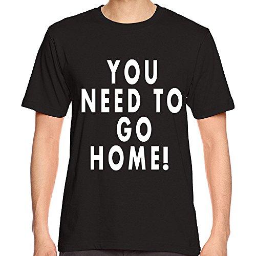 YAYUMI Men Printing Tees Summer Modal Fashion Shirt Short Sleeve Causal O-Neck T-Shirt Black ()