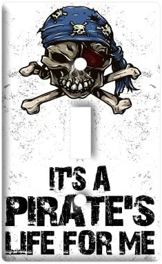It S A Pirate S Life For Me Skull Crossed Bones Plastic Wall Decor Toggle Light Switch Plate Cover Amazon Com