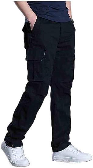 cheelot メンズオーバーサイズアスレチックフィットズボンマルチポケット戦闘空手パンツ