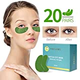 FRESHME Matcha Eye Mask - 20 Pairs Under Eye Patches Aloe Vera Extract Gel Masks for Anti Aging Reduce Puffiness Dark Circles Hyluronic Acid Deep Hydration Eye Pads Treatment Mask for Women and Men