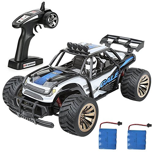 Distianert 1:16 Scale Electric RC Car Off Road Vehicle 2.4GHz Radio Remote Control Car 2W High Speed Racing Monster Truck (10 Scale Remote Control)