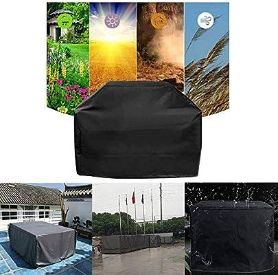 MorNon Funda Protectora para Contenedor Funda para Muebles de Jardín Exterior Cubierta de Muebles 120CM x 116CM x 100CM Negro: Amazon.es: Hogar
