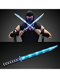 Deluxe Ninja LED Light up Sword with Motion Activated Clanging Sounds
