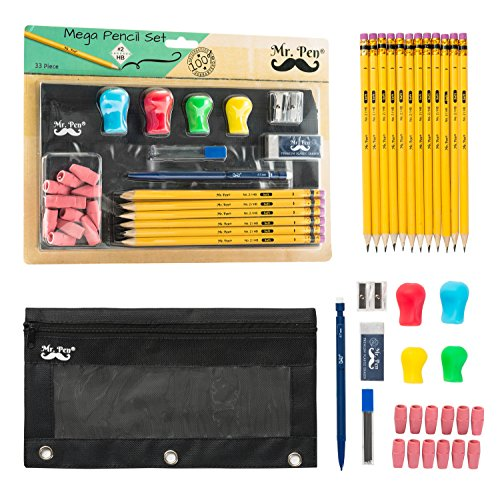 Mr. Pen- Complete Pencil Pack with Pencil Pouch, Pencil and Sharpener, 12 Pencils, 1 Eraser, 1 Pencil Sharpener, 1...