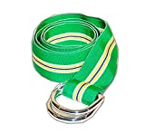 Polo Ralph Lauren Mens Grosgrain Ribbon D-Ring Belt Green Yellow Blue USA Small