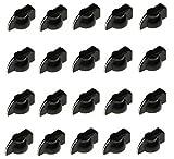 20 pcs Chickenhead Knob Black enonomy push on