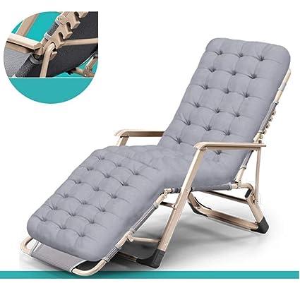 d4b3c9fe4f47 Amazon.com : XEWNEG Deck Chair Lounge Chair, Break Folding Chair Office  Portable Beach Adult Lazy Couch Leisure Back Chair Nap Bed (Color : C) :  Garden & ...