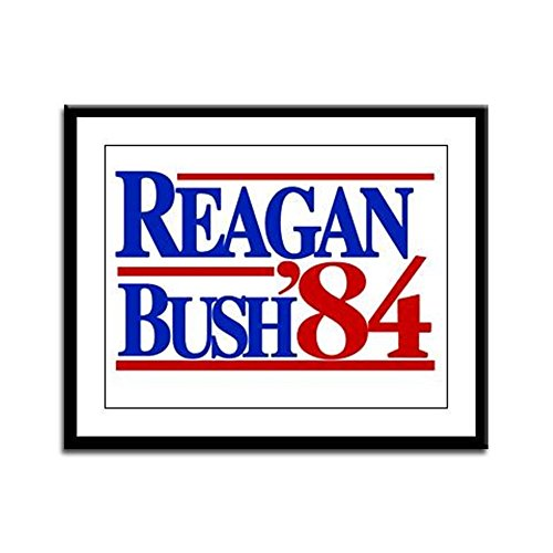 CafePress - Reagan Bush 1984 - Framed Print, 13