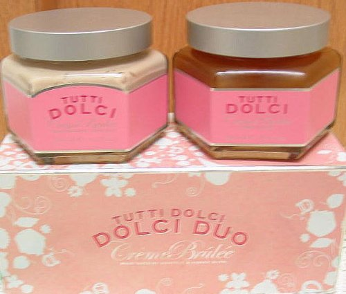 Tutti Dolci Duo Creme Brulee Honey Bath 10.1 Oz & Souffle 10.1 Oz