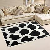 WOZO Animal Cow Print Area Rug Rugs Non-Slip Floor Mat Doormats Living Room Bedroom 31 x 20 inches