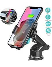 XuanPad Wireless Car Charger Mount Auto Clamping Car Phone Holder with 5W/ 7.5W/10W Qi Fast Charging for iPhone Xs/X/XR Samsung Galaxy Note 9/ S9/ S8/S8+Edge …