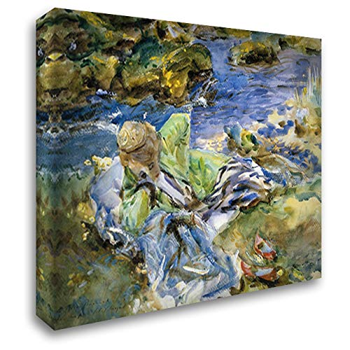 Turkish Woman by A Stream 24x20 Gallery Wrapped Stretched Canvas Art by John Singer Sargent (The Best Turkish Singer)