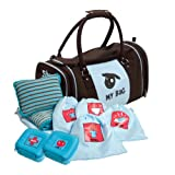 Kushies MB160 My Bag The Ultimate Daycare/Overnight Bag, Boy Brown/Blue