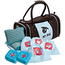 Kushies My Bag The Ultimate Daycare/Overnight Bag, Boy Brown/Blue