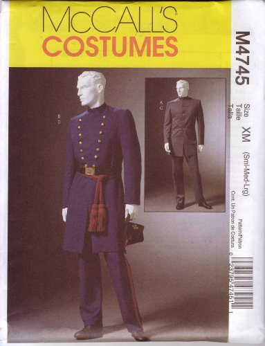 McCall's Sewing Pattern M4745 Size S-M-L Men's