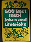 Front cover for the book 500 Best Irish Jokes and Limericks by Doug Anderson