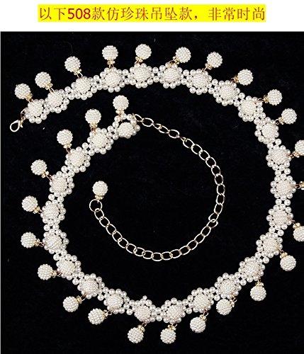 Belly Dance Waist Chain Belly Dance Costume Indian Dance Waist Chain Tassel Pearl Necklace Pendant Crystal Diamond Chain Waist Chain Belt