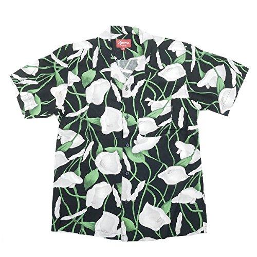 SUPREME シュプリーム 18SS Lily Rayon Shirt 半袖シャツ 黒 S 並行輸入品 B07DSXHP6Q