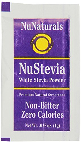 NuNaturals NuStevia White Stevia Powder - Natural Sweetener